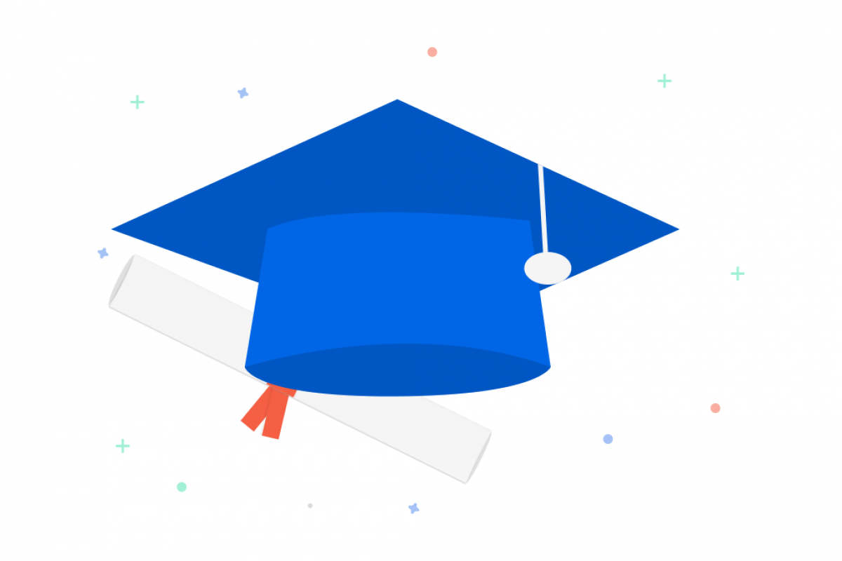 Education, graduation hat icon